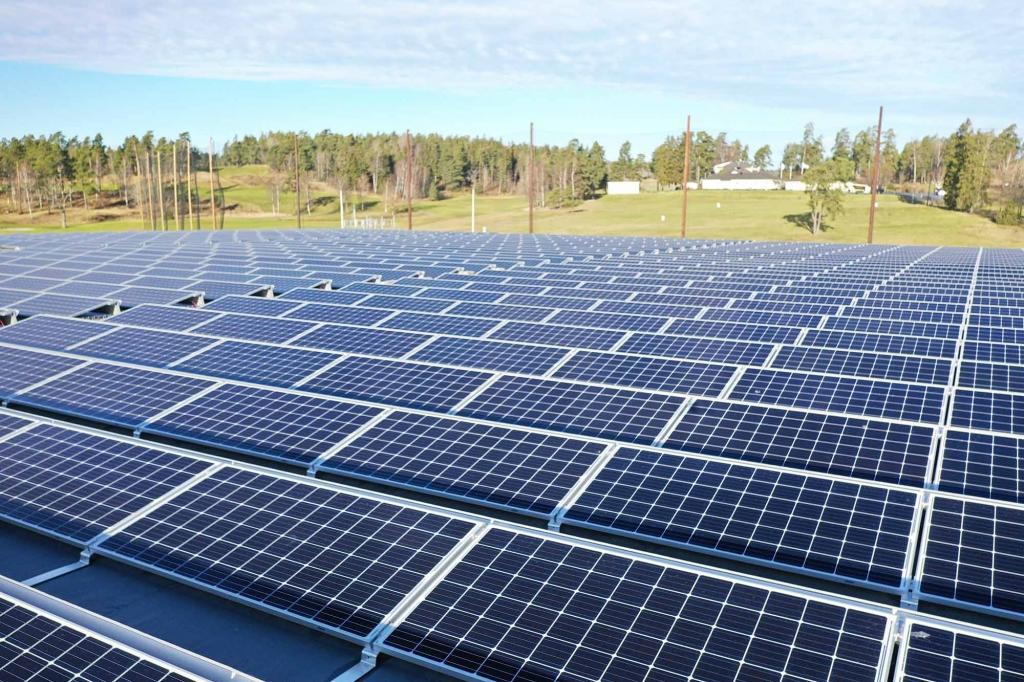 utanpåliggande solceller
